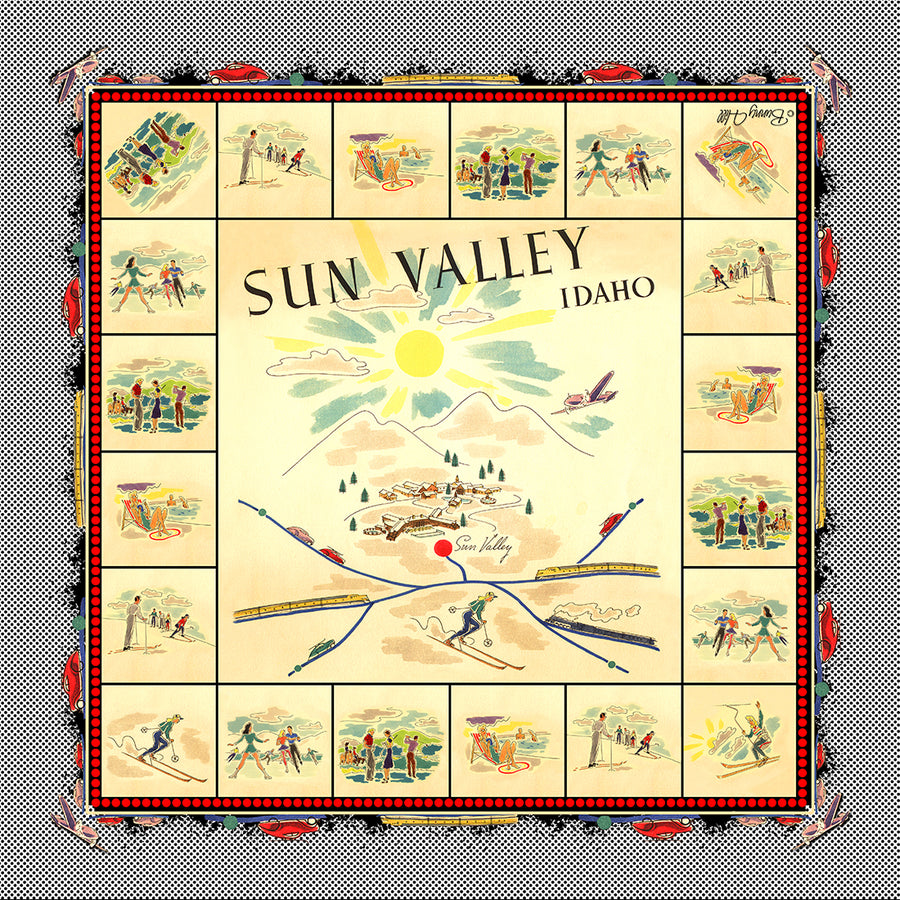 Sun Valley Vacation Silk Chiffon Scarf