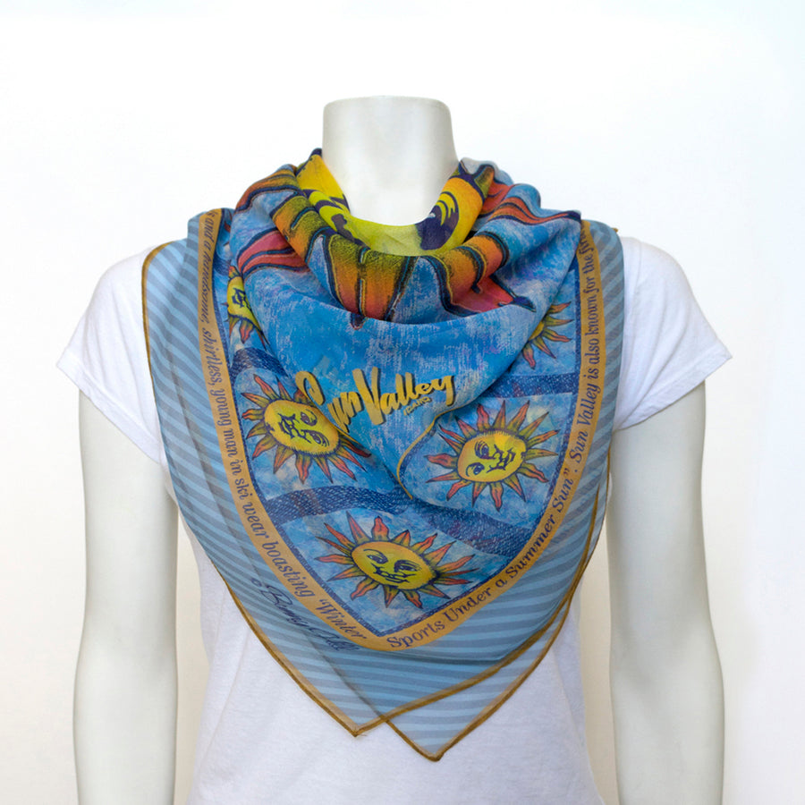 Sun Valley Sun Silk Chiffon Scarf