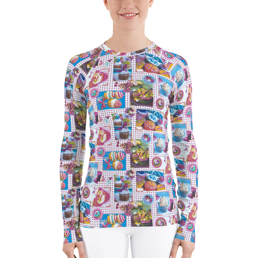 Sugar Rush All Over Women's Long Sleeve Top