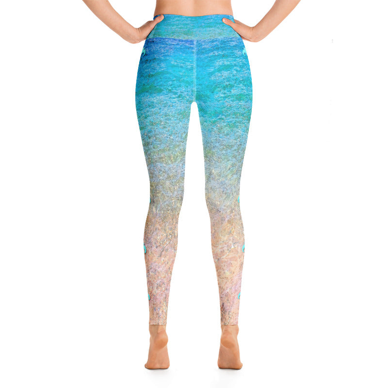 Beach Flower Yoga Leggings