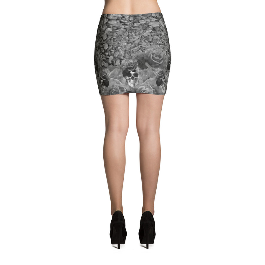 Skulls, Rocks and Roses Mini Skirt