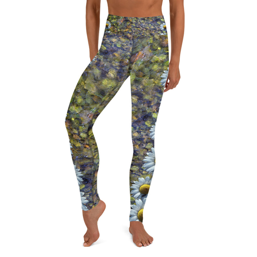 Riverbed & Daisy Stripe Yoga Leggings
