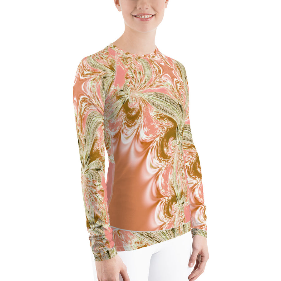 Pink Fractal Long Sleeve Top