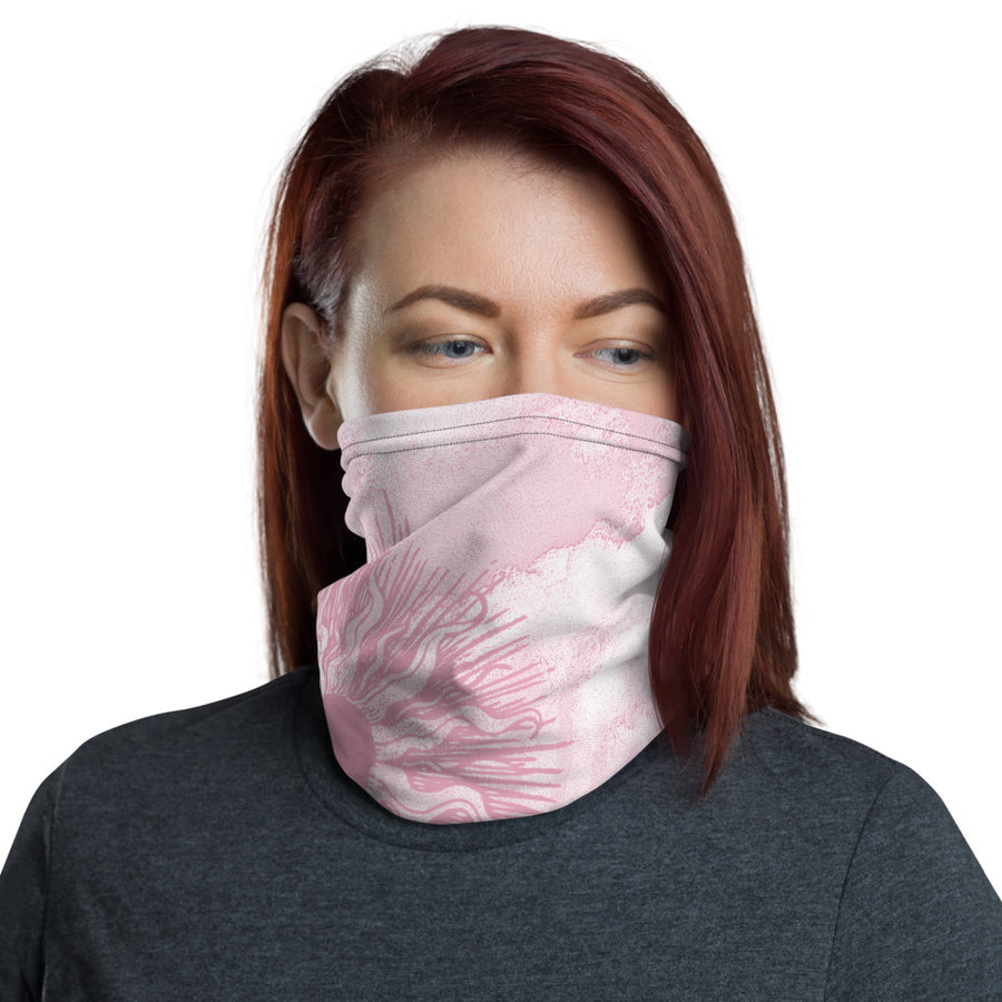 Summer Sun Over Baldy Pink Neck Gaiter