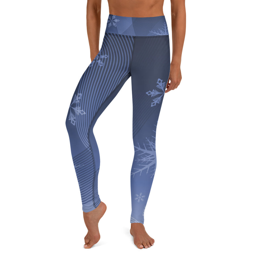 Blue Bird Ski Day Yoga Leggings