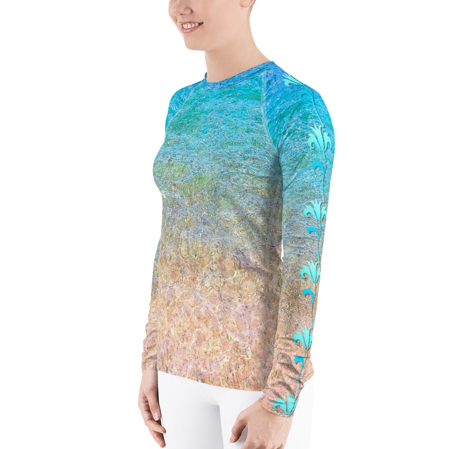 Beach Flower Women's Long Sleeve Top