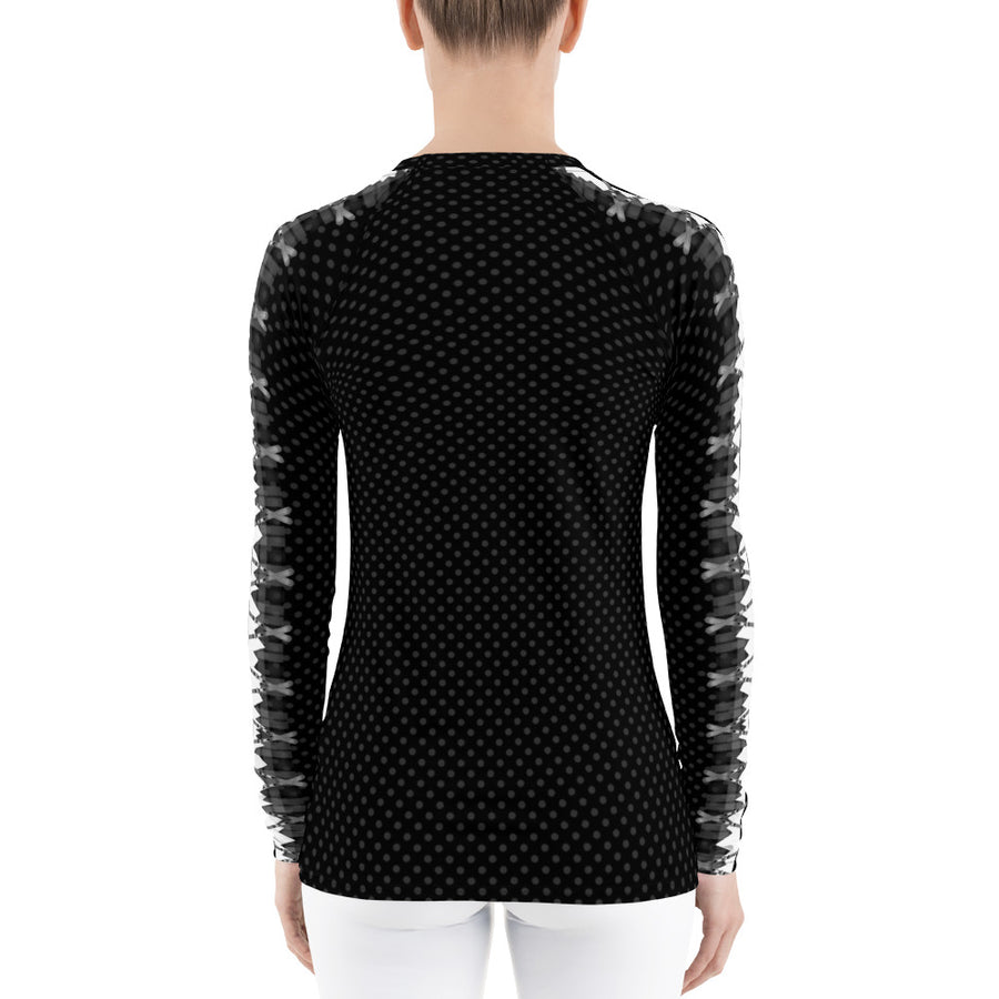 Crossed Ski Long Sleeve Top