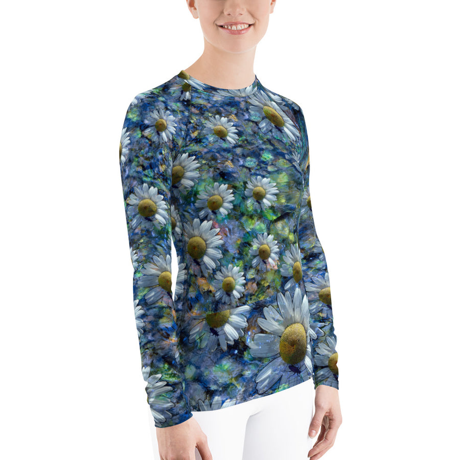 Floating Daisies Long Sleeve Top