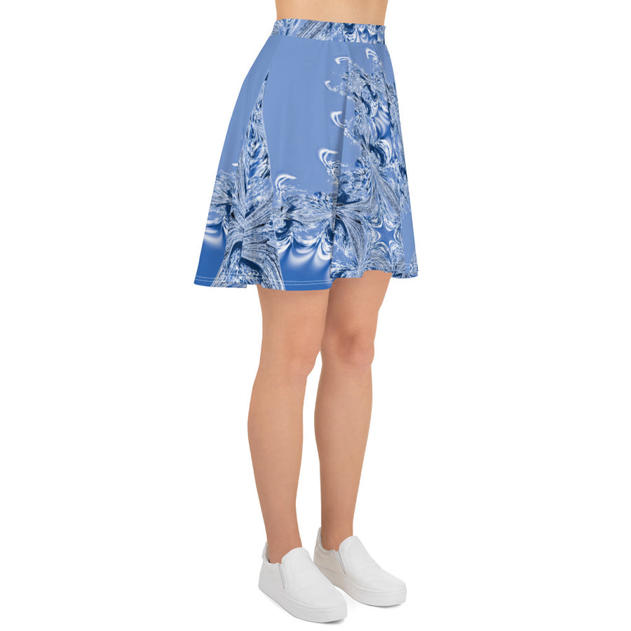 Blue Fractal Full Skirt