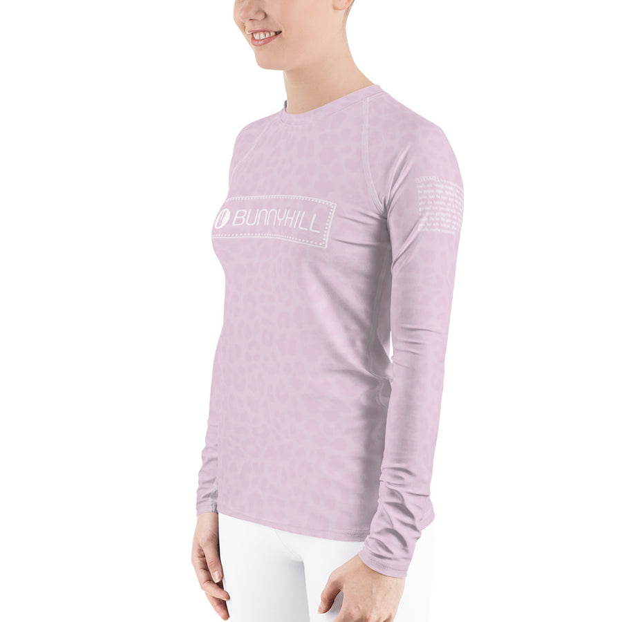 Bunny Hill Leopard Logo Long Sleeve Top Pink