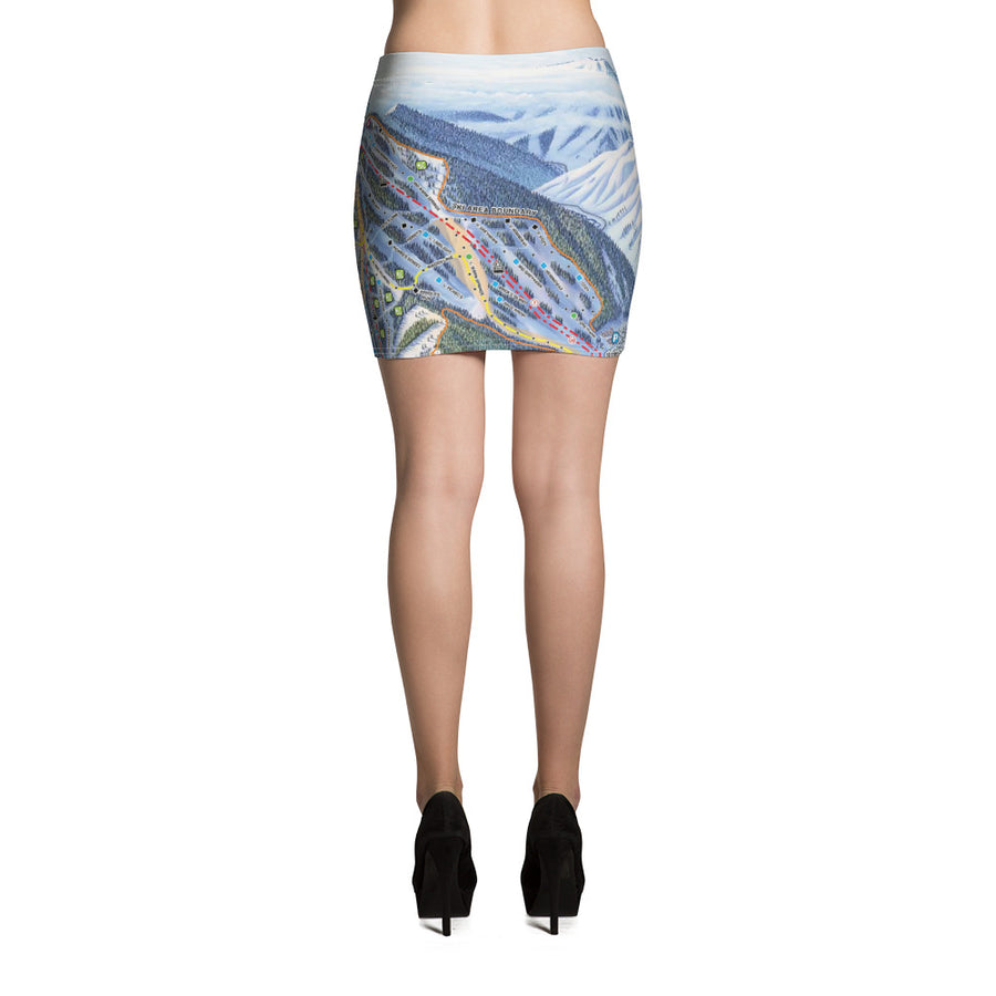 Sun Valley Winter Map Mini Skirt