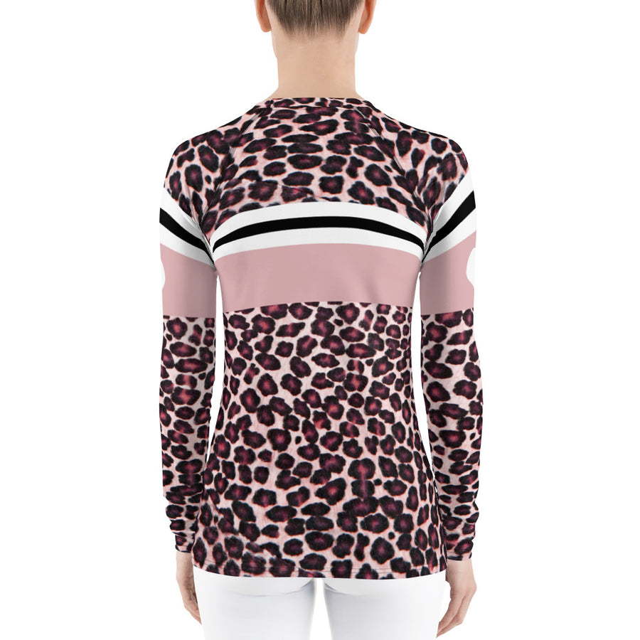Love Idaho Pink Leopard Print Long Sleeve Top