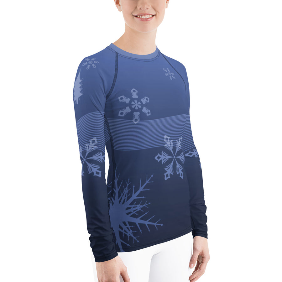 Blue Bird Ski Day Women's Long Sleeve Top