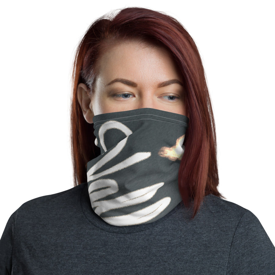 Valley Girl Skier Grey Neck Gaiter