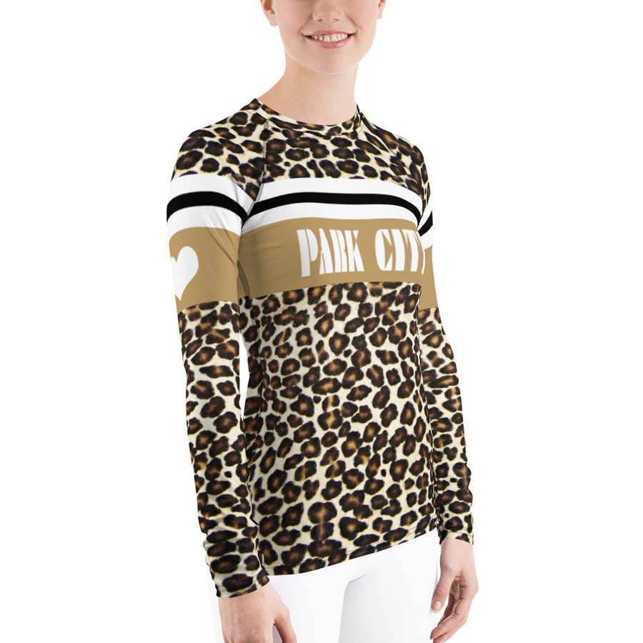Park City Leopard Print Natural Long Sleeve Top
