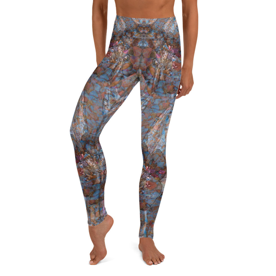 Columbine Flowers Yoga Leggings