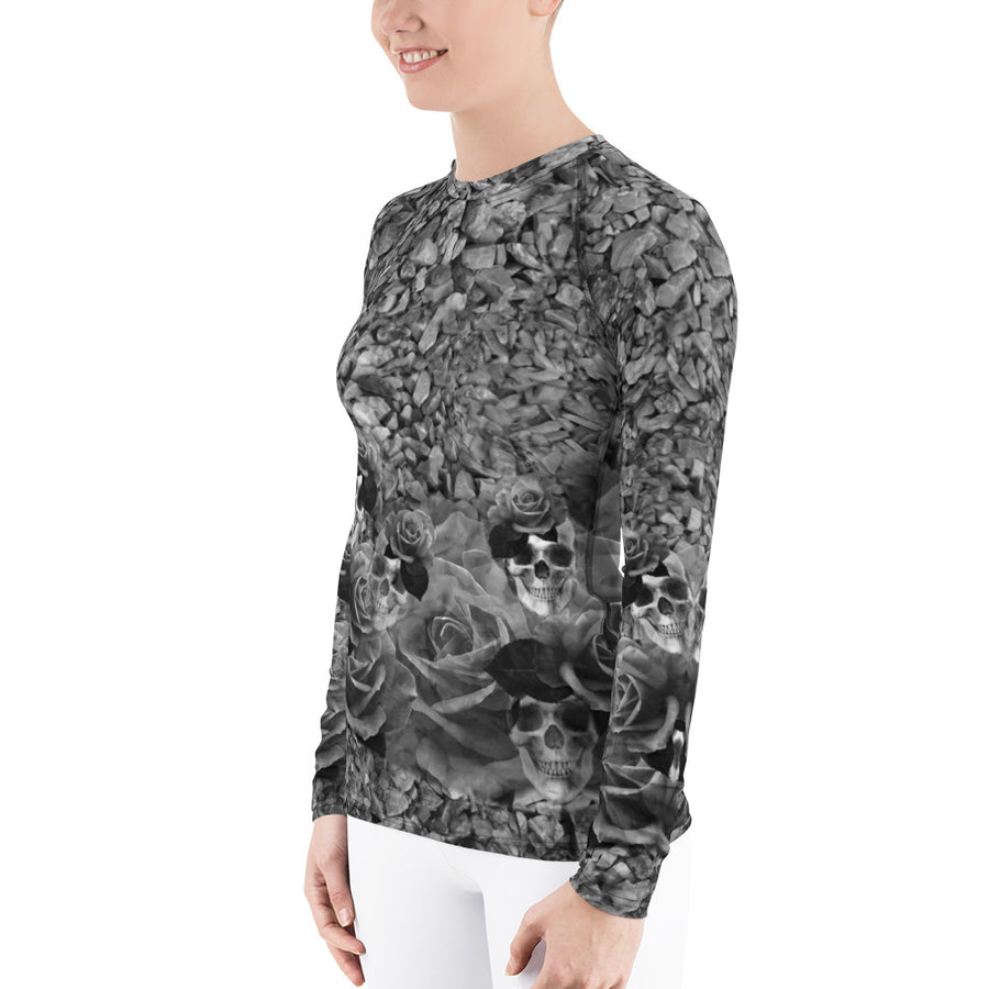 Skulls, Rocks and Roses Longs Sleeve Top