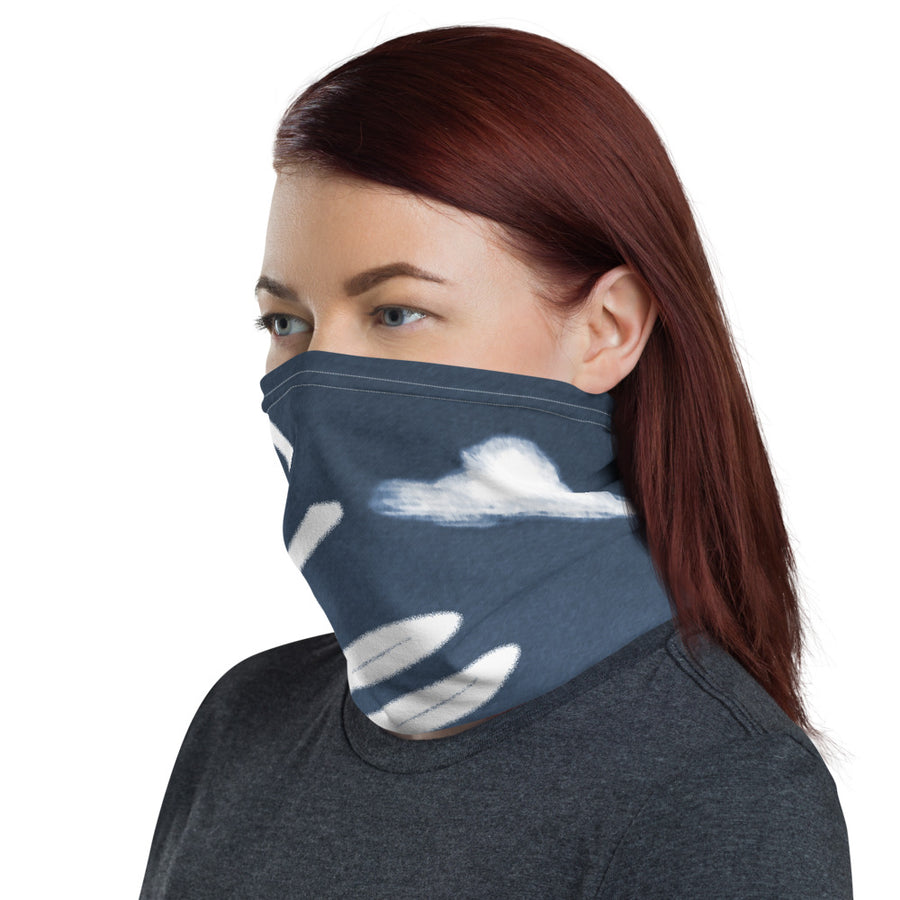 Valley Girl Navy Blue Neck Gaiter