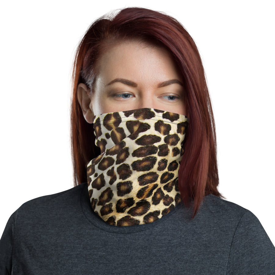 Natural Leopard Neck Gaiter