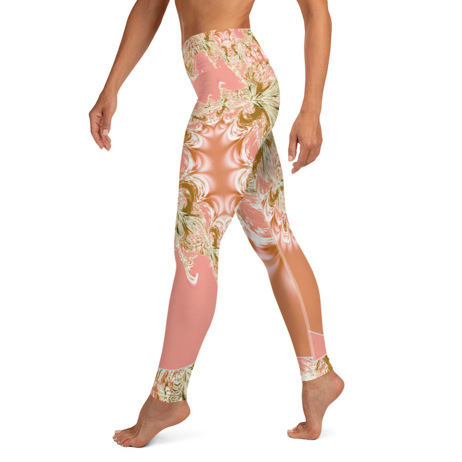 Pink Fractal Yoga Leggings