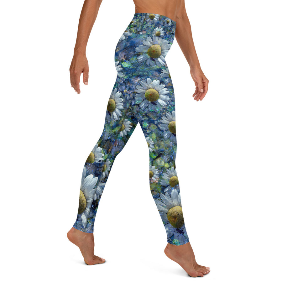 Floating Daisies Yoga Leggings
