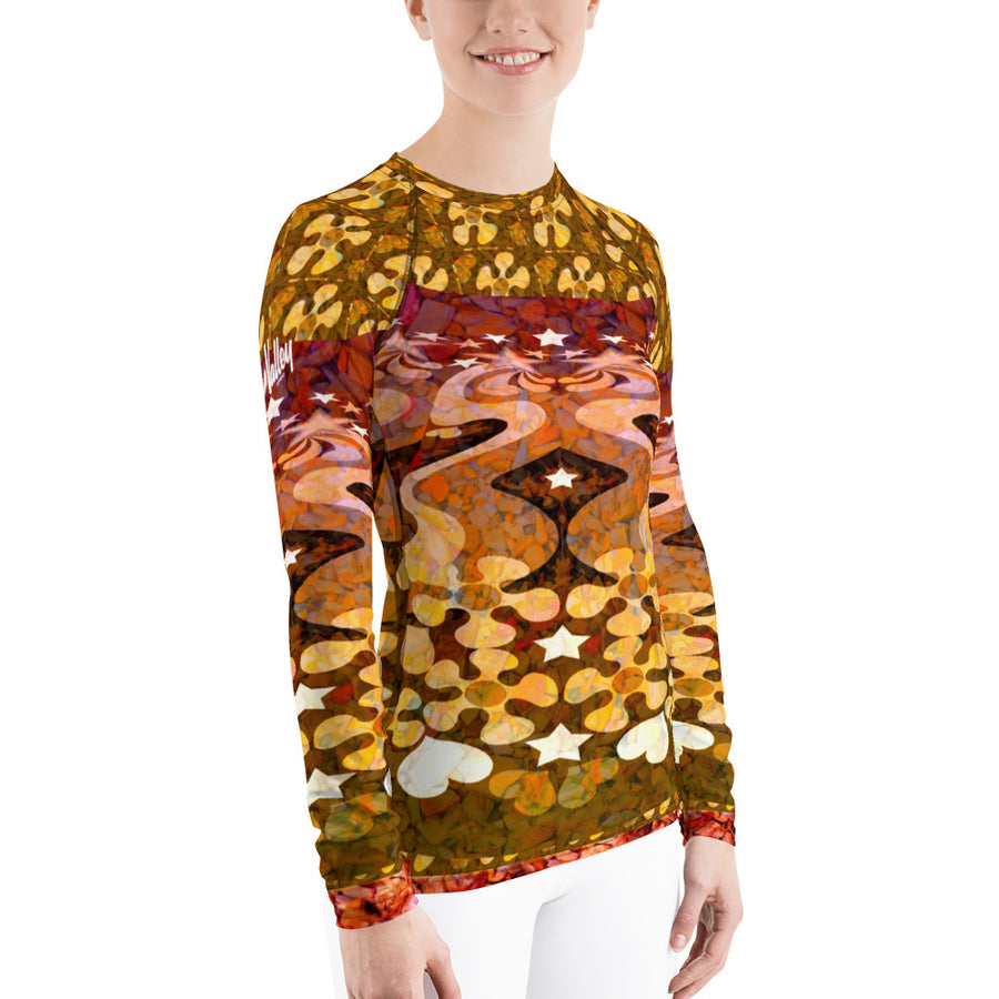 PopArt Multi W/Sun Valley Logo Women's Long Sleeve Top