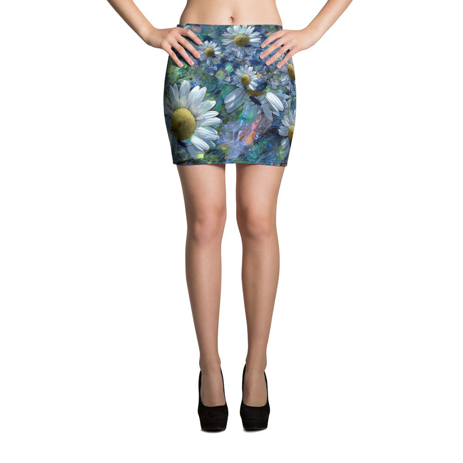 Floating Daisies Mini Skirt