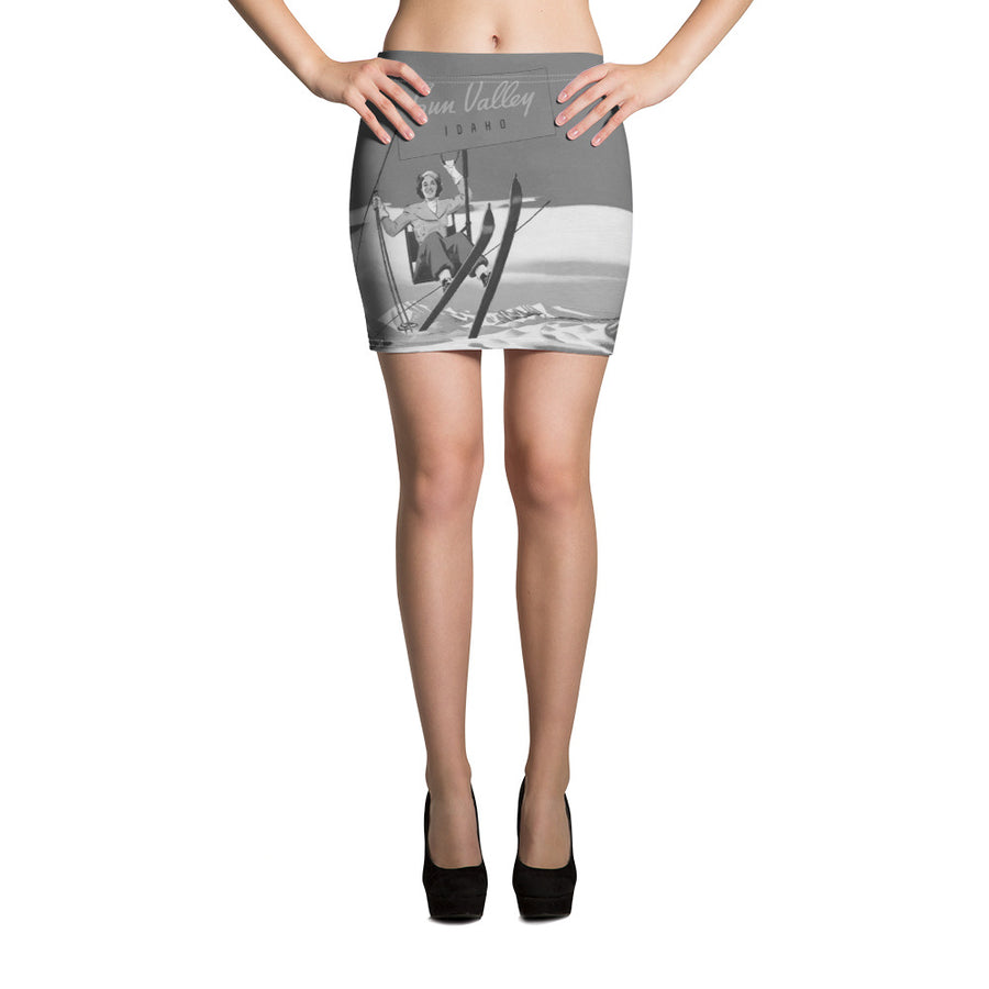 Vintage Sun Valley Skier Mini Skirt