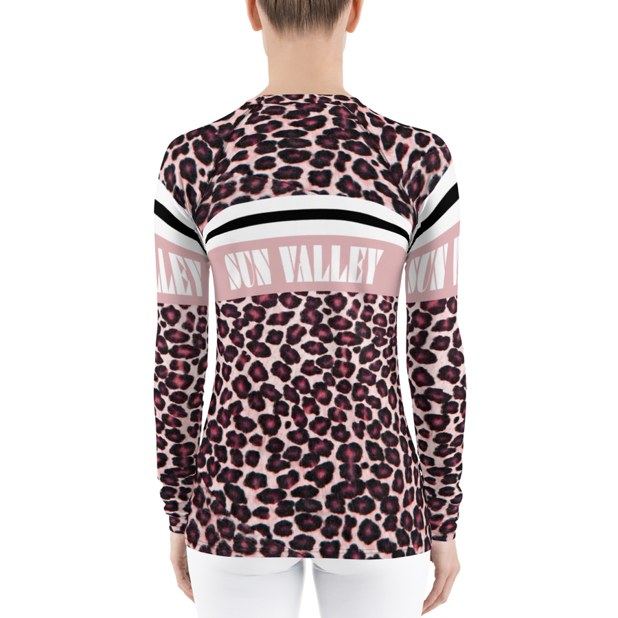 Sun Valley Pink Leopard Long Sleeve Top