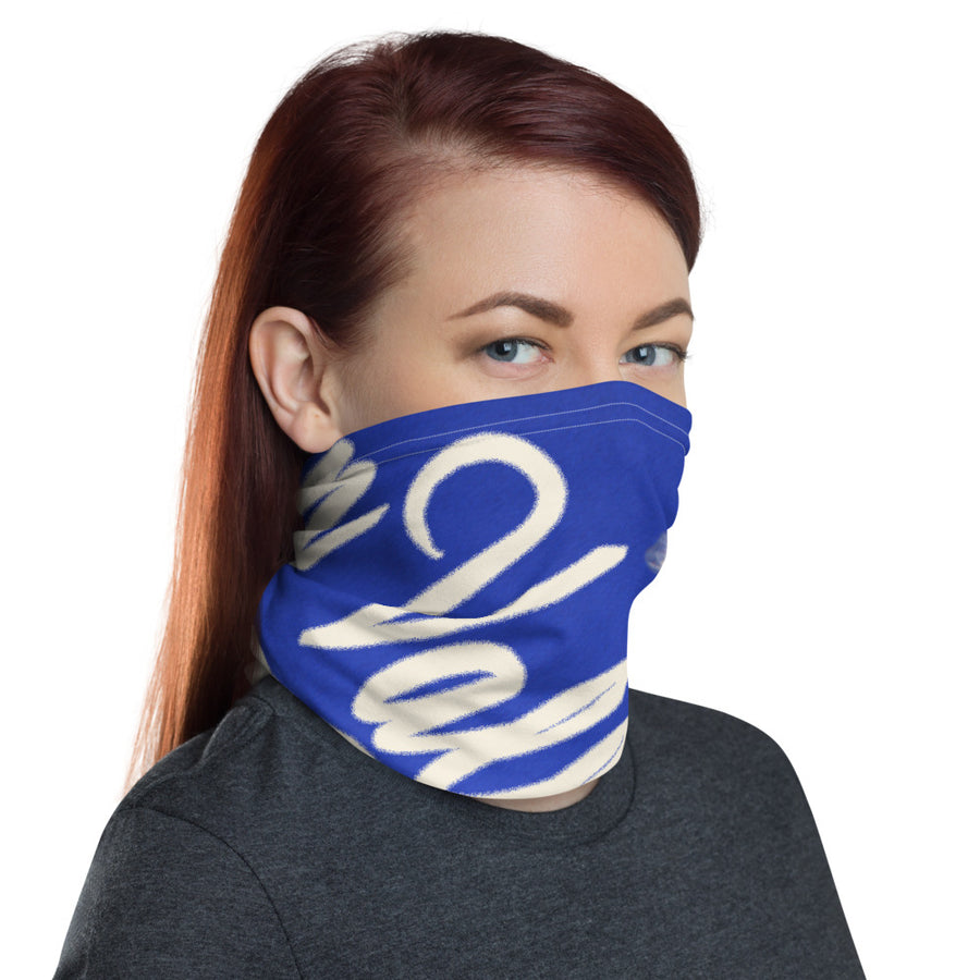 Valley Girl Skier Blue Neck Gaiter