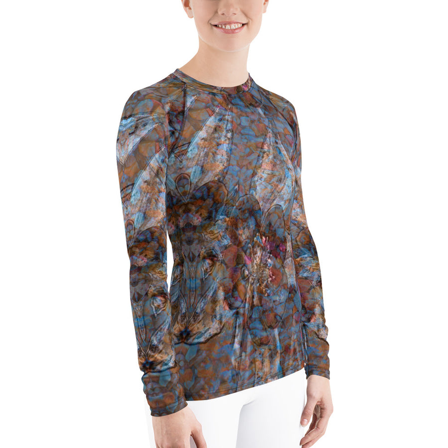 Columbine Flowers Women's Long Sleeve Top