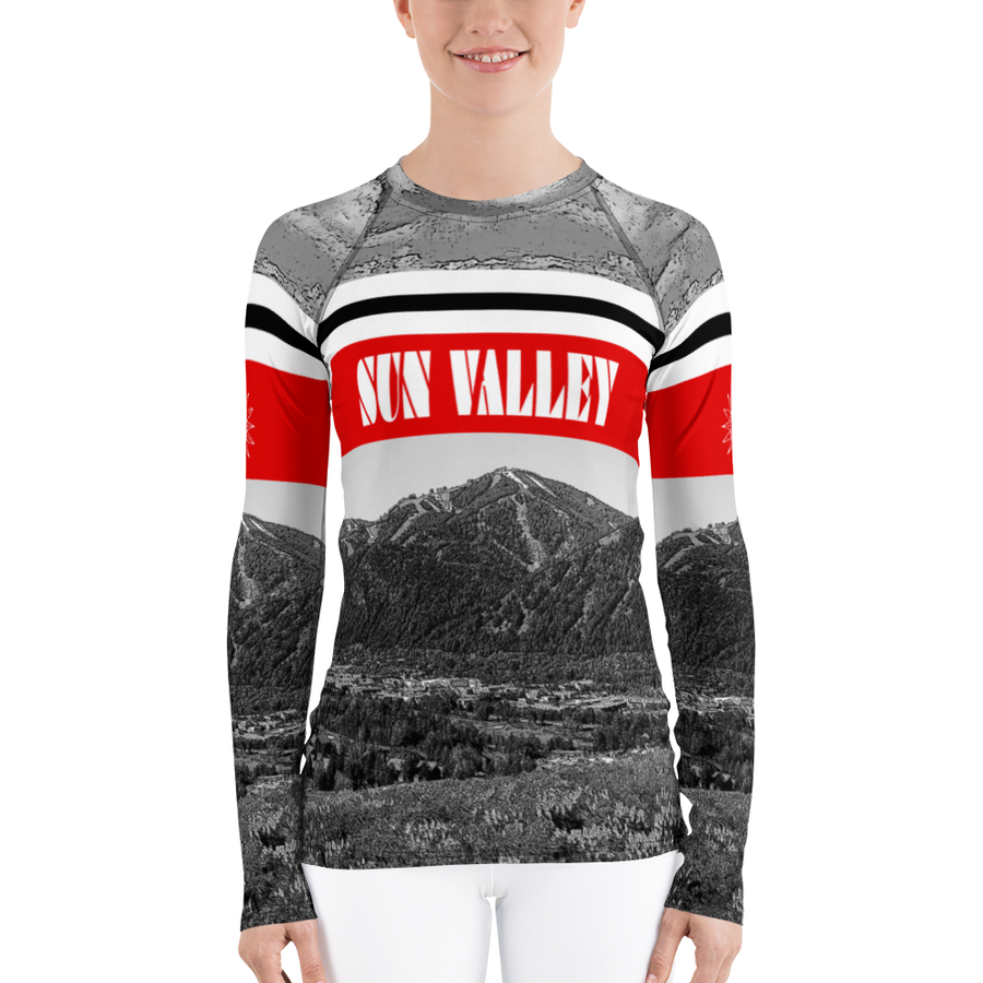 Sun Valley Baldy Long Sleeve Top Black & White
