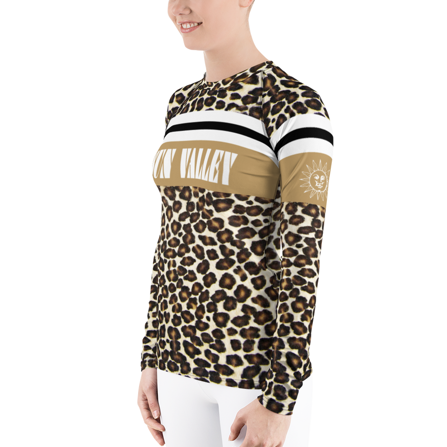 Sun Valley Natural Leopard Print Long Sleeve Top