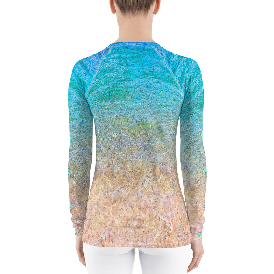 Beach Flower  Long Sleeve Top