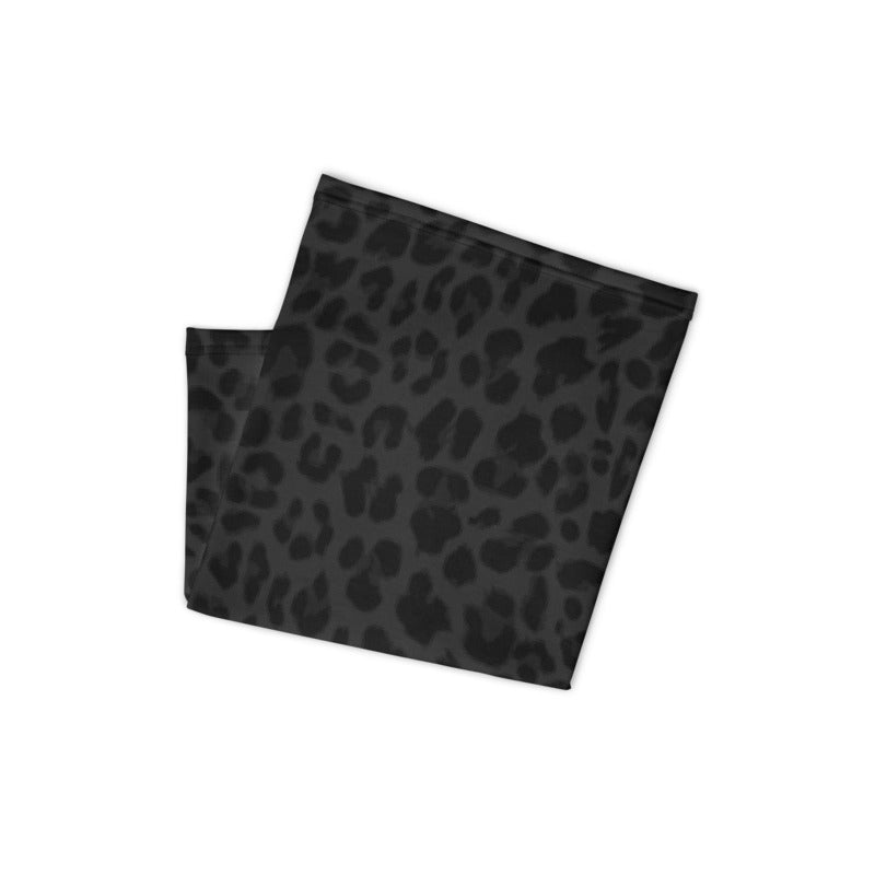 Leopard Print Dark Navy & Black Neck Gaiter