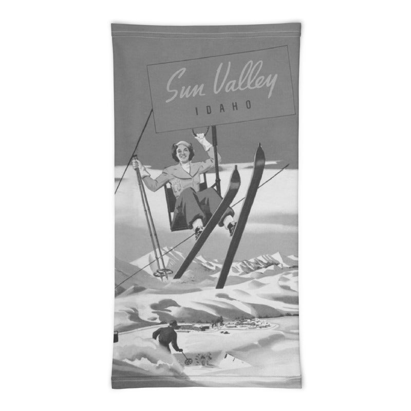 Vintage Sun Valley Skier Neck Gaiter
