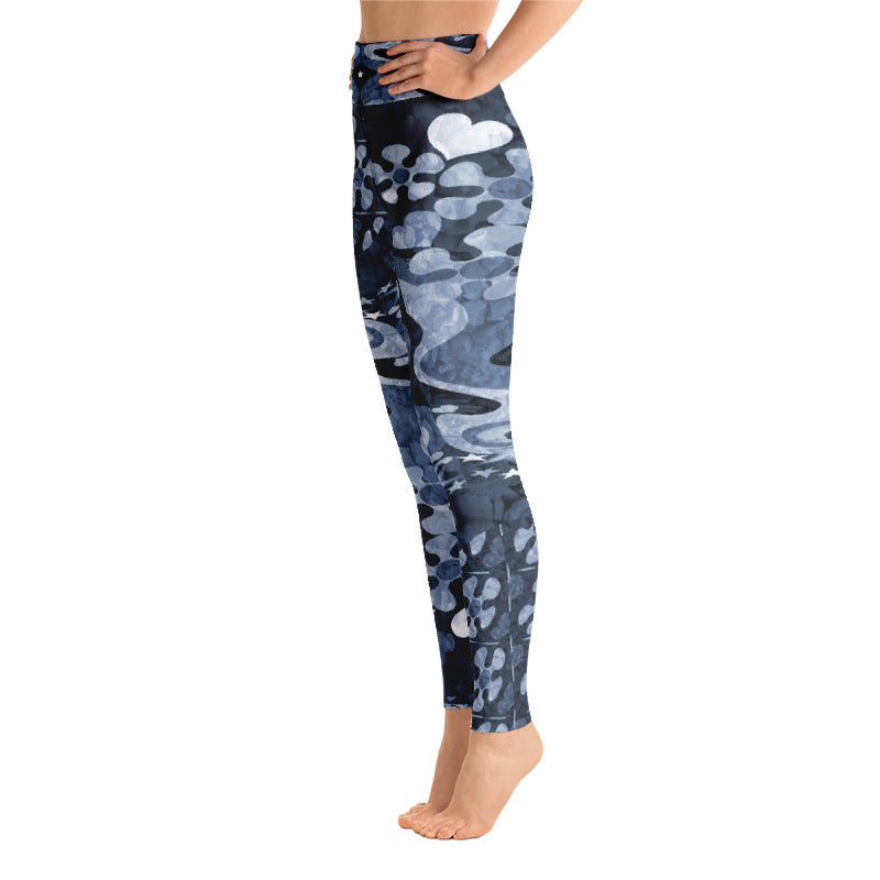 PopArt Blue Yoga Leggings