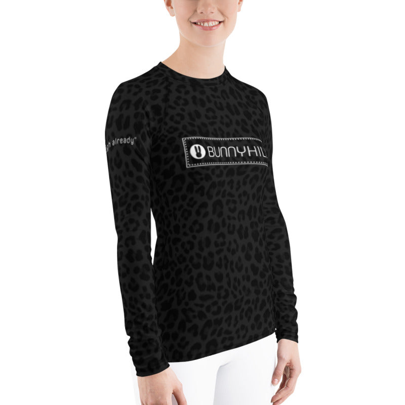Bunny Hill Leopard Logo Women's Long Sleeve Top