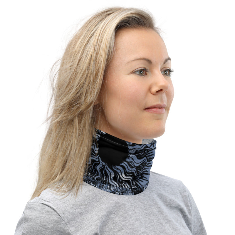 Summer Sun Over Baldy Indigo Neck Gaiter
