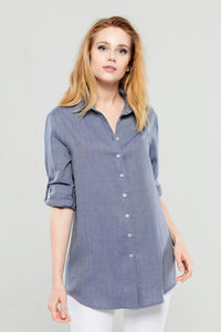 Navy Cashmere  Tunic