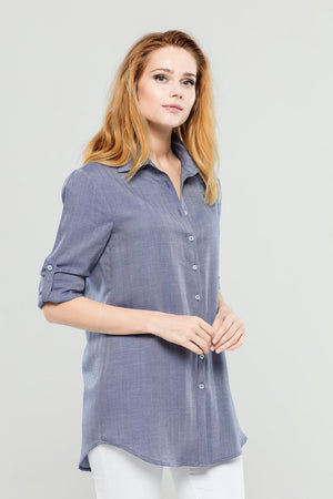 Load image into Gallery viewer, Navy Cashmere  Tunic