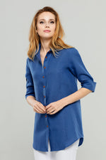 Royal Blue Linen Tunic