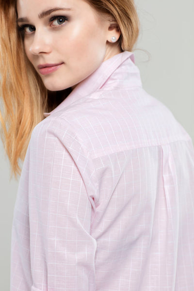 Light Pink Check  Tunic
