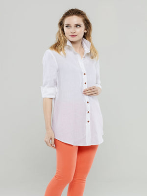 Load image into Gallery viewer, White Linen Tunic
