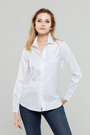 Load image into Gallery viewer, White Premium Cotton Shirt
