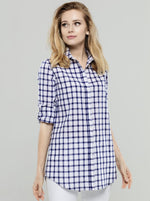 Big Navy Check Tunic
