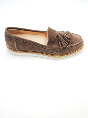 Brown Tassel Sneakers