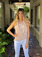 Beige Halter Neck Top
