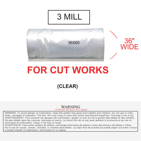 POLY BAG - CUT WORKS (3 MILL)