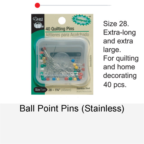 BALL POINT STAINLESS PINS